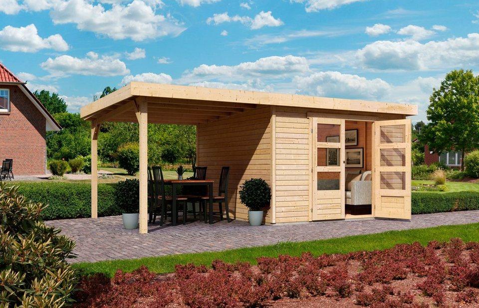 KARIBU Gartenhaus »Arnis 6«, BxT: 302 x 306 cm, mit Schleppdach (ca. 220 cm breit) in natur