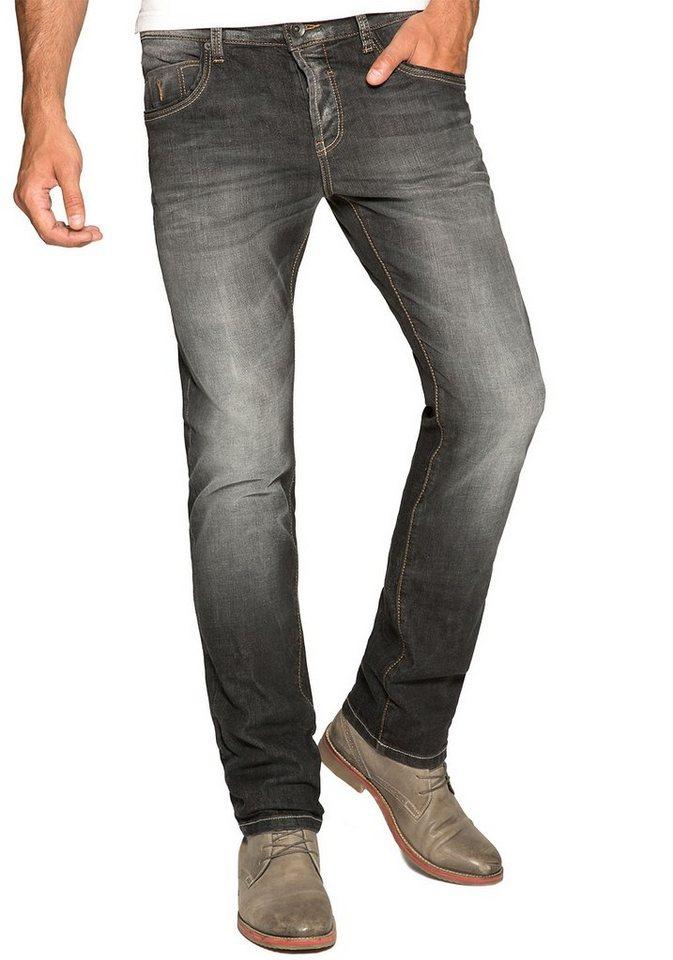 Camp David Slim-fit-Jeans in vintage-grey-used