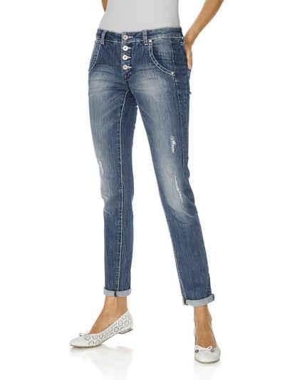 Damen boyfriend jeans a9008 fetzten optik