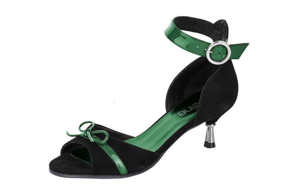 Heine Sandalette in schwarz/smaragd