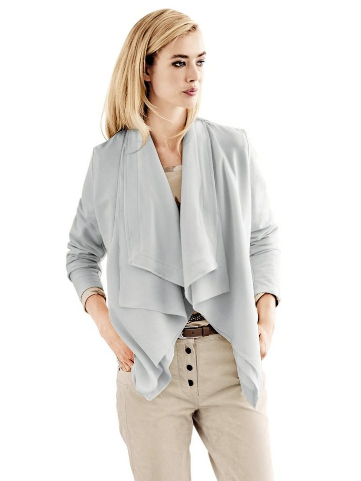 B.C. BEST CONNECTIONS by Heine Shirtjacke mit Materialmix in grau