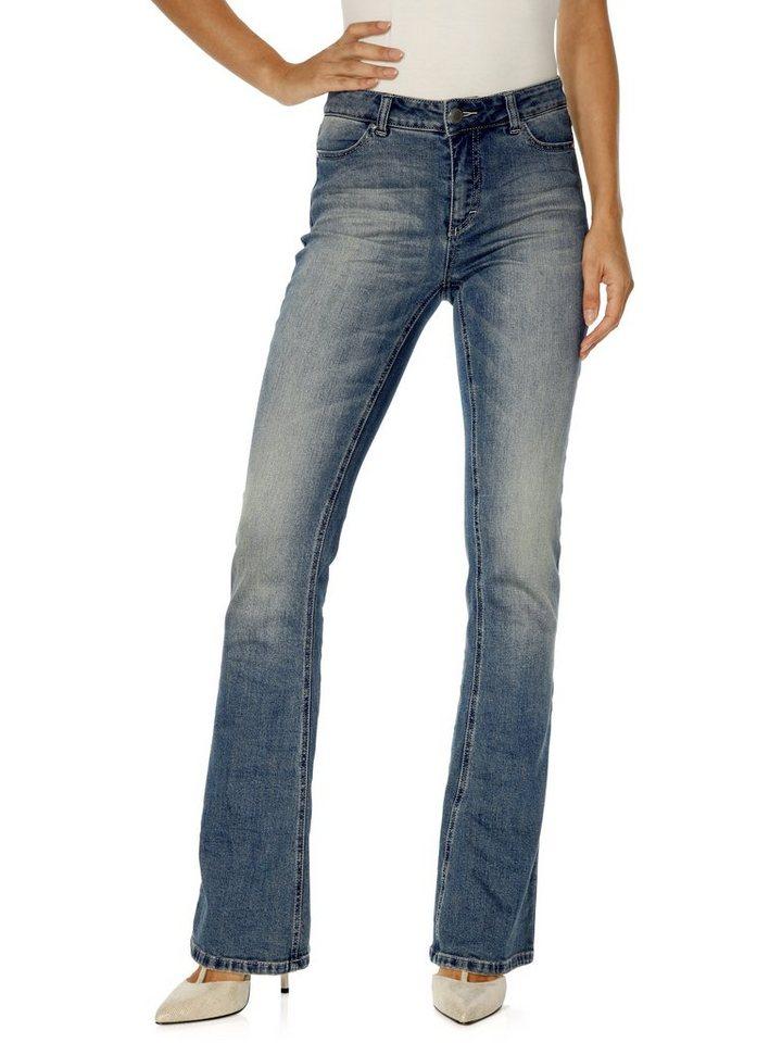 RICK CARDONA by Heine Jeans in Bootcut-Form in blue denim