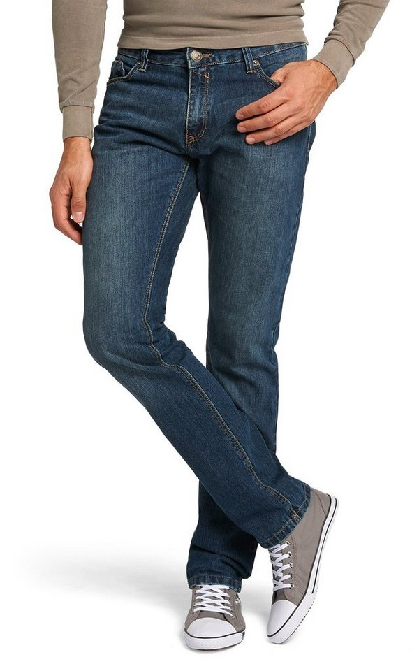 H.I.S Jeans »Stanton, used look« in dark sand blue