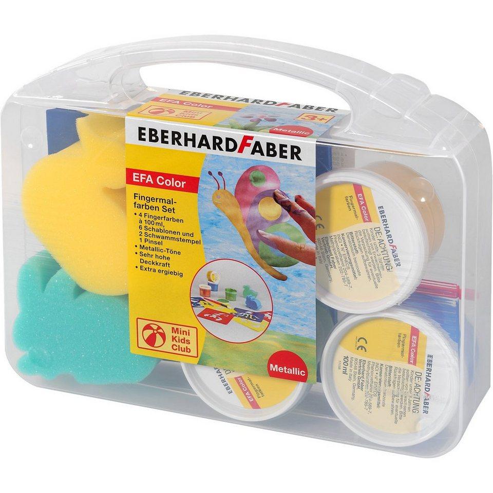 Eberhard Faber Fingermalfarben-Set Pearl, 4 x 100 ml