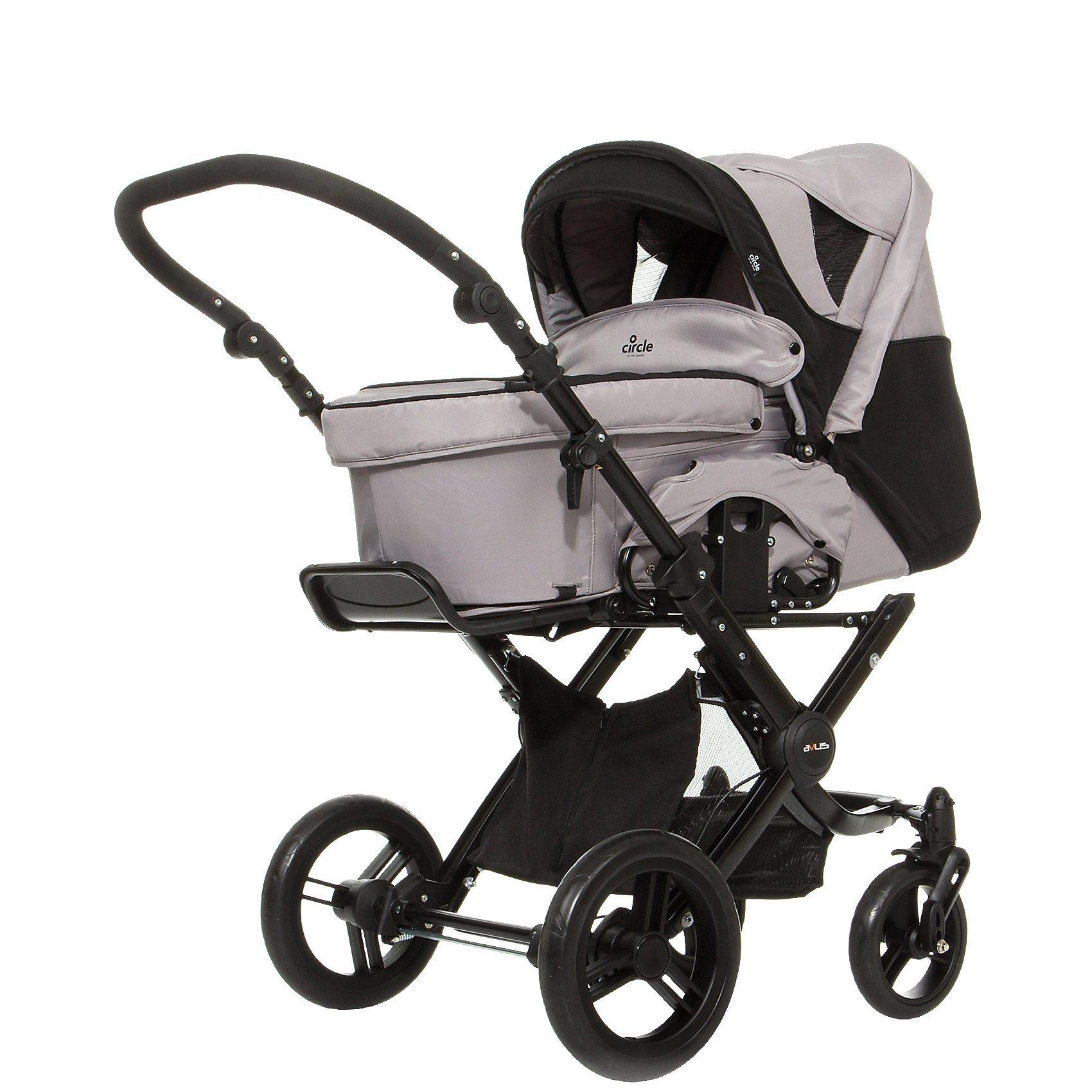 ABC Design Kombi Kinderwagen Ancona, grey black