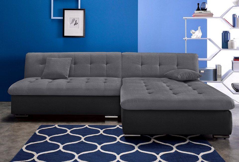 trendmanufaktur ecksofa wahlweise mit bettfunktion inklusive komfortablen federkerns online. Black Bedroom Furniture Sets. Home Design Ideas