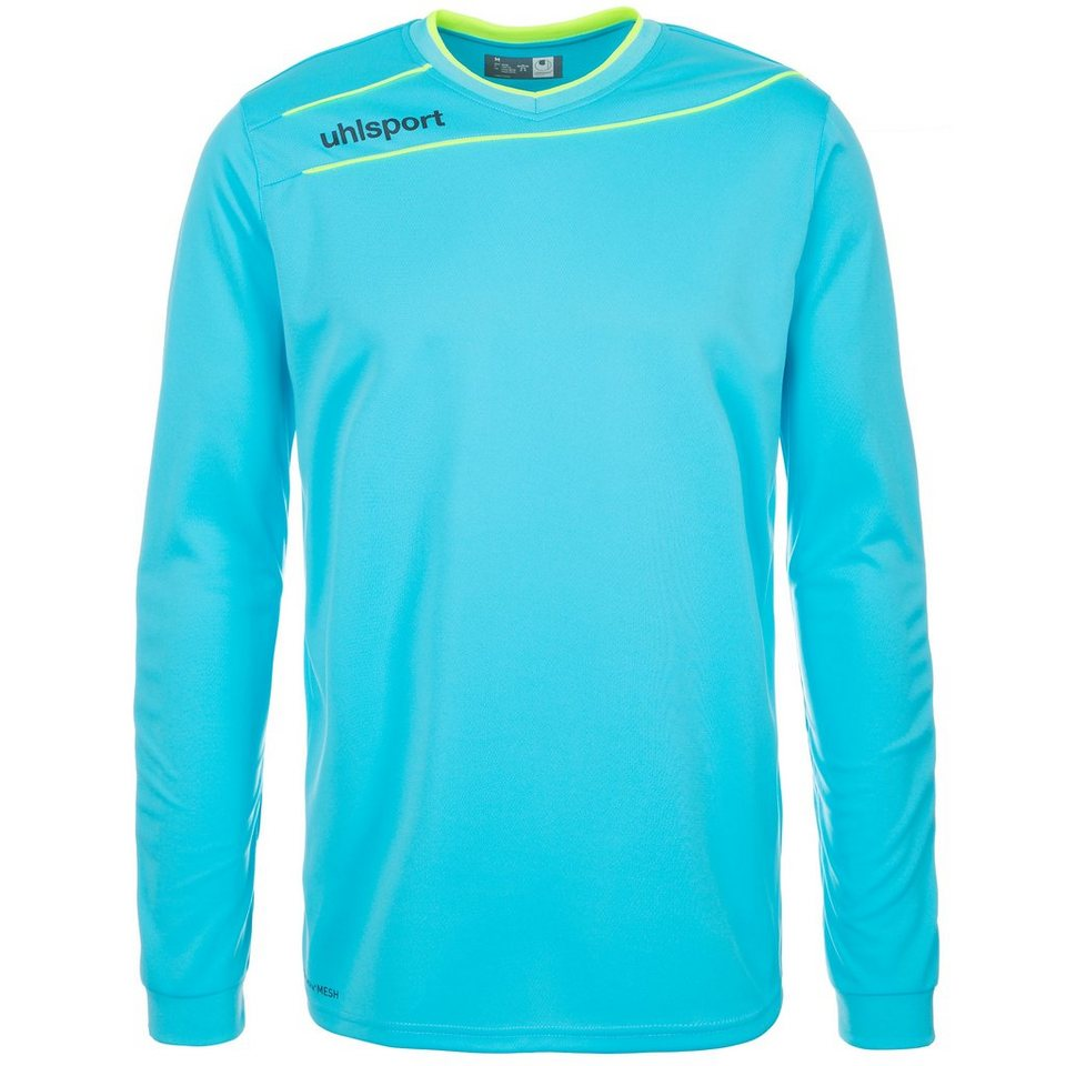 UHLSPORT Stream 3.0 Torwart Trikot Kinder in eisblau/fluo gelb