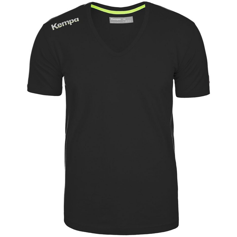 KEMPA Core Baumwoll V-Kragen T-Shirt Herren in schwarz