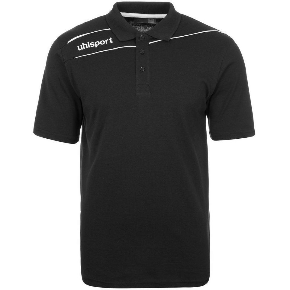 UHLSPORT Stream 3.0 Polo Shirt Herren in schwarz/weiß
