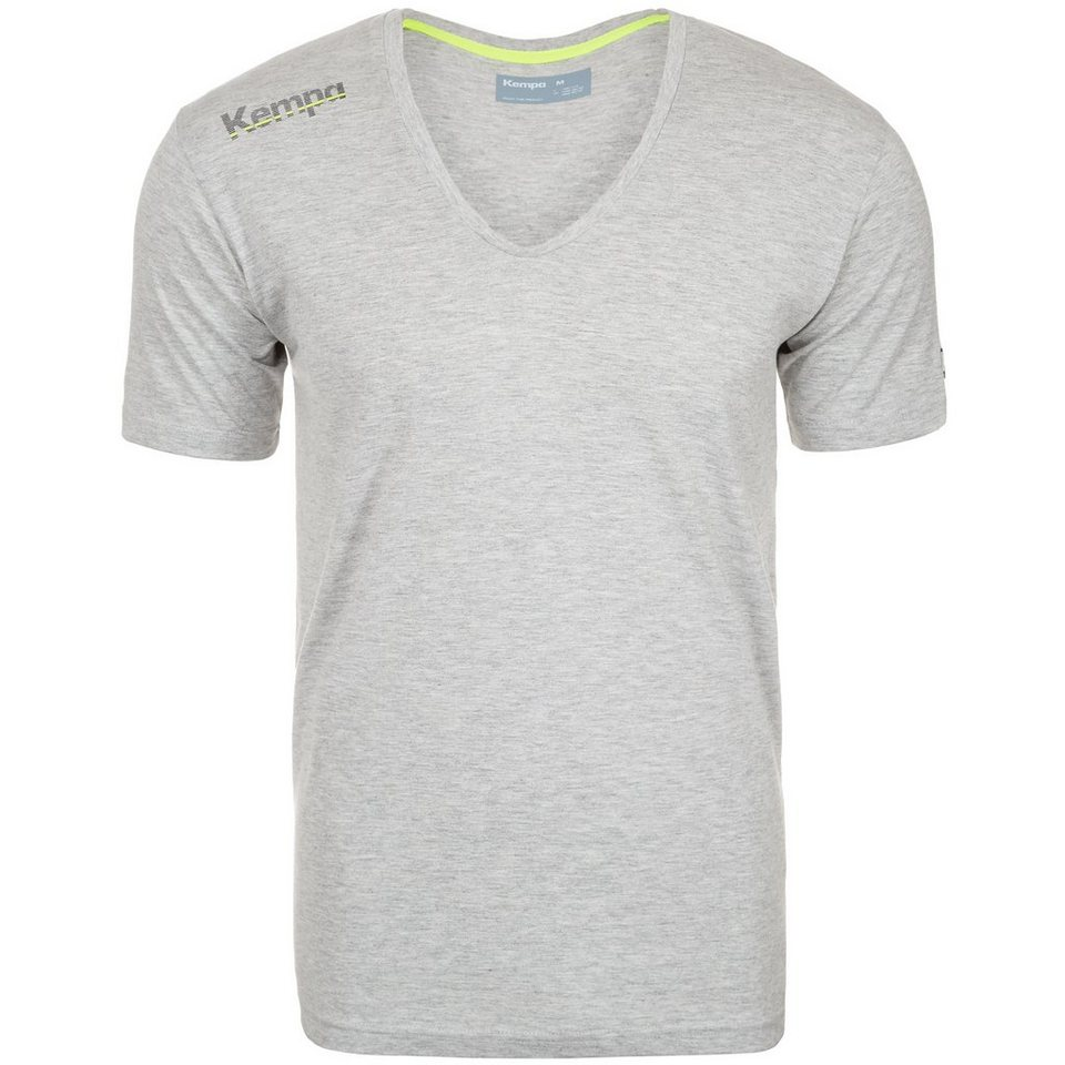 KEMPA Core Baumwoll V-Kragen T-Shirt Kinder in grau mélange