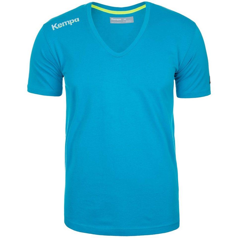 KEMPA Core Baumwoll V-Kragen T-Shirt Herren in kempablau