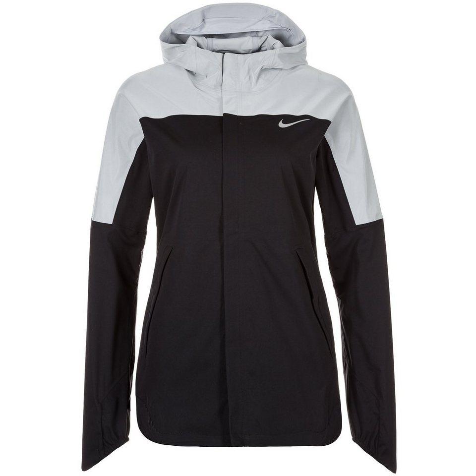 NIKE Shieldrunner Flash Laufjacke Damen in schwarz / silber
