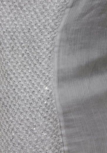 FRAPP Trend-Pullover mit Blusenrücken und eingenähtem Top