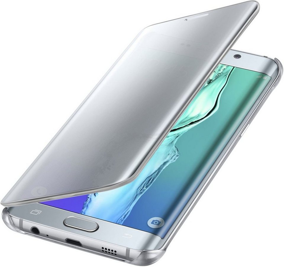 Samsung Handytasche »Clear View Cover für Galaxy S6 Edge+« in Silber