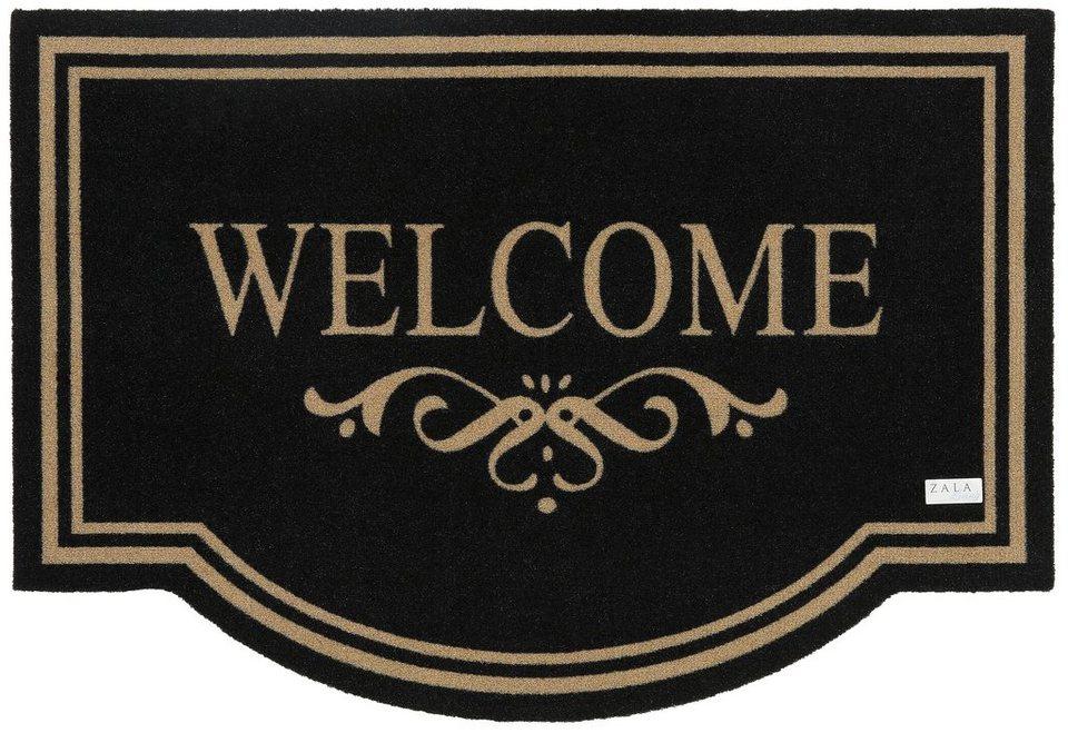 Schmutzfangmatte, Hanse Home, »Welcome«, strapazierfähig, In- und Outdoor, rutschhemmend beschichtet in schwarz