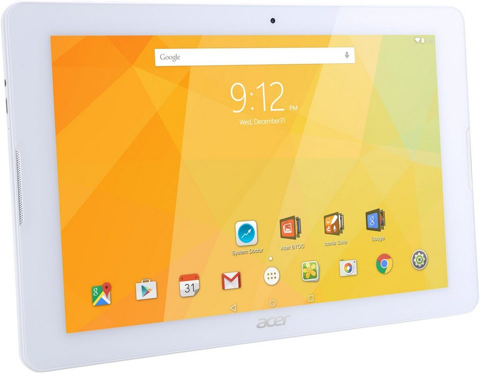 Acer Iconia One 10 B3 A20 Tablet-PC, Android 5.1, Quad-Core, 25,7 cm (10,1 Zoll), 1024 MBDDR3L-SDRAM in weiß