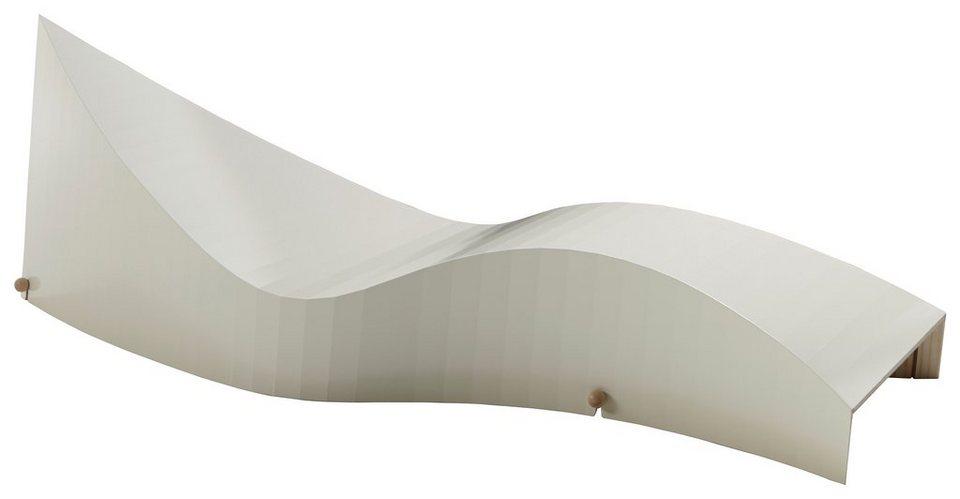 müller möbelwerkstätten® Designliege »KOii« aus hochwertigem Birken-Schichtholz in perlweiß
