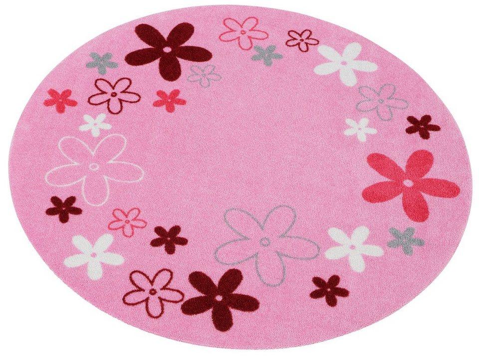 Kinderteppich »Blumen«, Zala Living, rund, Höhe 7 mm online kaufen ...