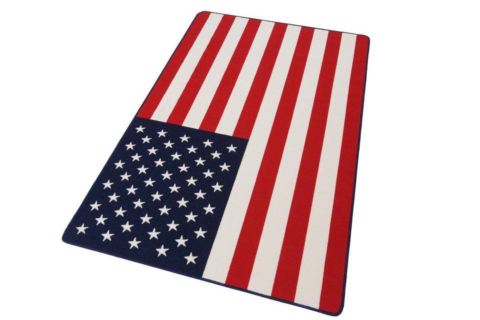 teppich usa flagge hanse home rechteckig h he 9 mm online kaufen otto