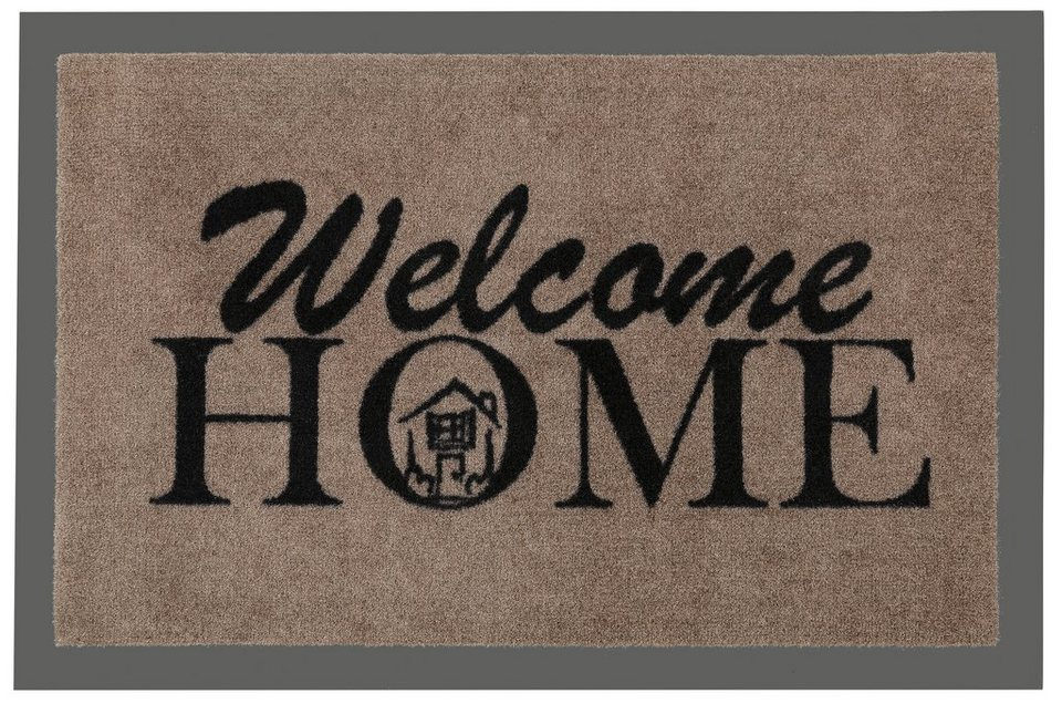 Fußmatte »Welcome Home«, Hanse Home, rechteckig, Höhe 7 mm in braun