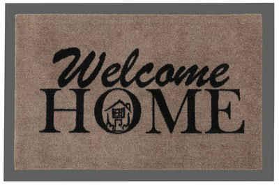 Fußmatte »Welcome Home«, HANSE Home, rechteckig, Höhe 7 mm, Schmutzfangmatte, mit Spruch