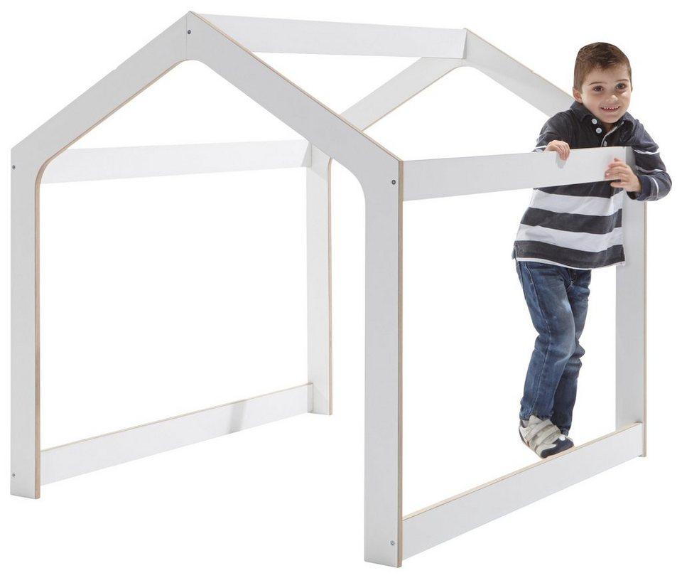 müller möbelwerkstätten® Kinderspielhaus »PLAYHOUSE« aus hochwertigem Birkenschichtholz in weiß