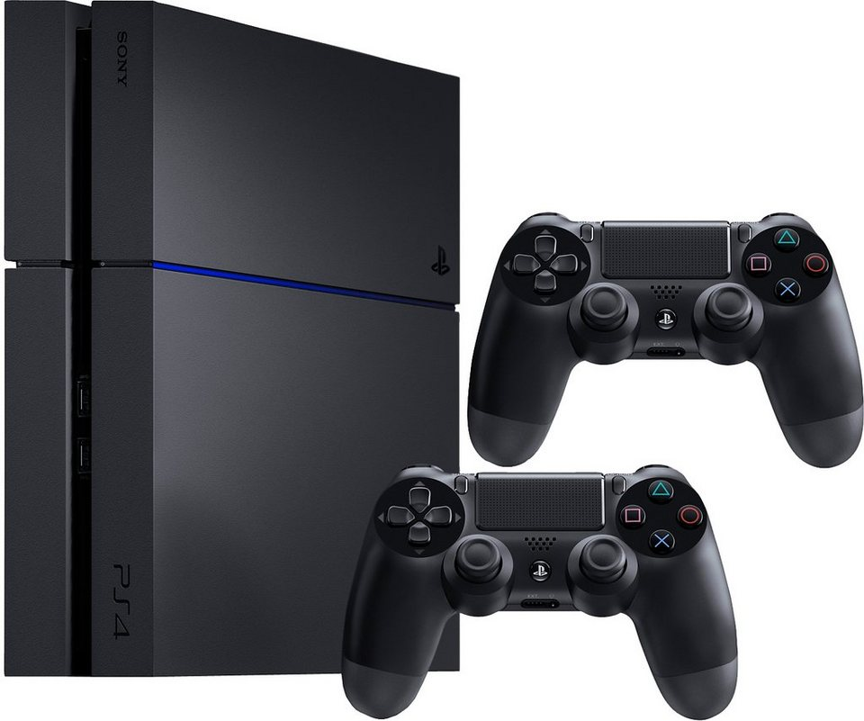 playstation 4 ps4 1tb 2 controller konsolen set mit 3. Black Bedroom Furniture Sets. Home Design Ideas
