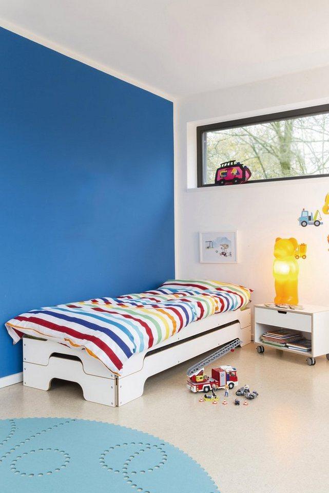müller möbelwerkstätten® Design Liege »STAPELLIEGE« für Kinder in weiß mit Birkenkante