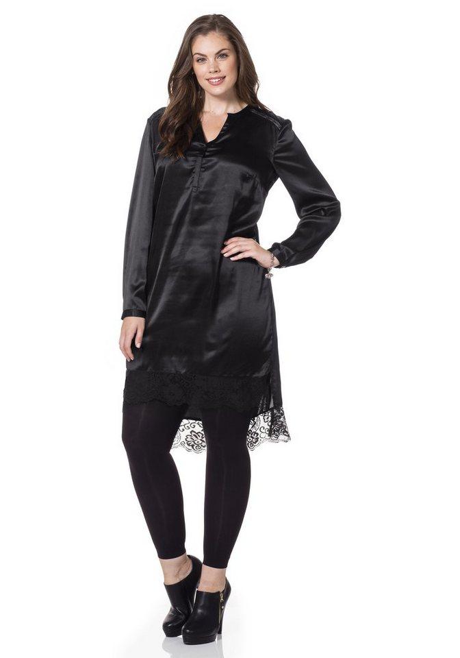sheego Style Tunikakleid in schwarz