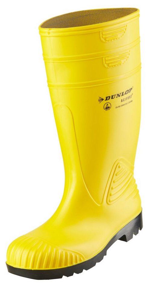 Dunlop Gummistiefel in gelb