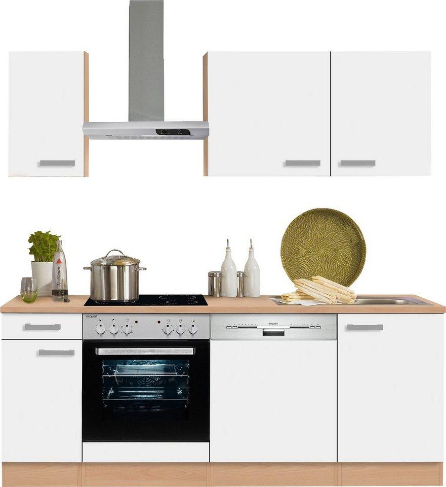 Optifit Küchenzeile Odense Mit E Geräten Breite 210 Cm Mit 28 Mm