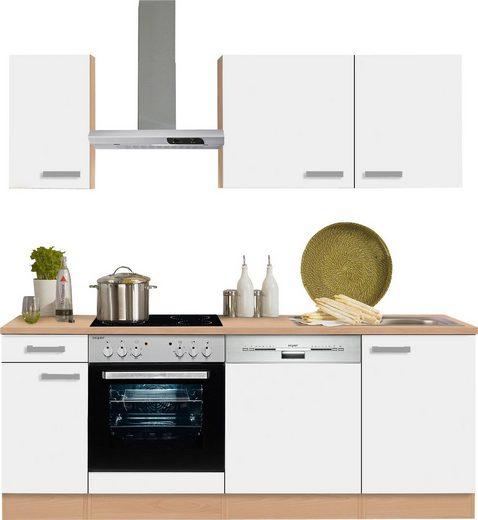 OPTIFIT Küchenzeile »Odense«, mit E-Geräten, Breite 210 cm mit 28 mm starker Arbeitsplatte