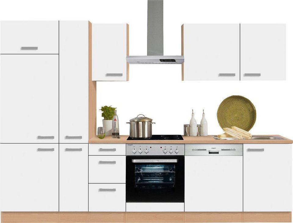 Optifit Küchenzeile Odense Mit E Geräten Breite 300 Cm Mit 28 Mm