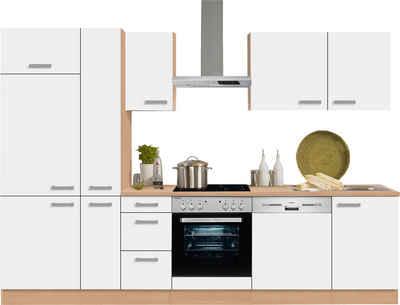 OPTIFIT Küchenzeile Mit E Geräten »Odense« , Breite 300 Cm Mit 28 Mm