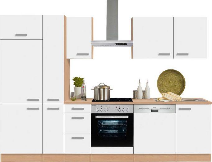 OPTIFIT Küchenzeile »Odense«, mit E-Geräten, Breite 300 cm mit 28 mm starker Arbeitsplatte