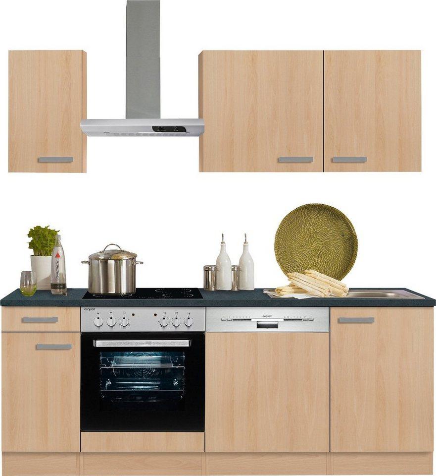 optifit küchenzeile mit e-geräten »odense« , breite 210 cm online ... - Küche 210 Cm