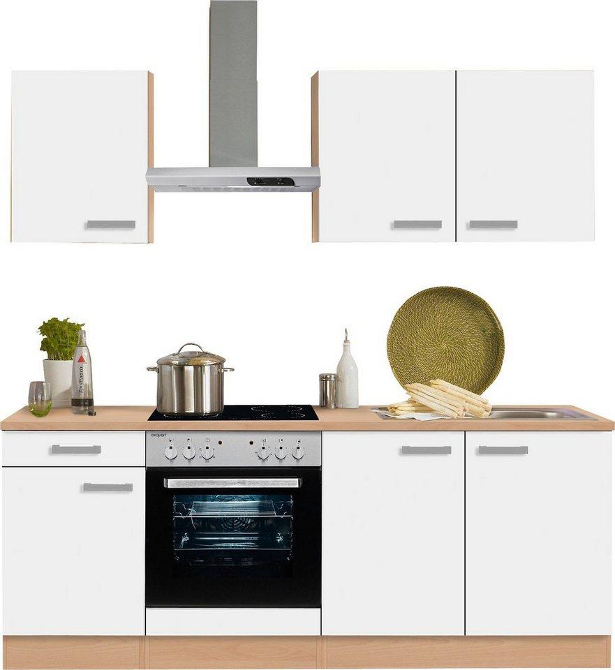 optifit k chenzeile mit e ger ten odense breite 210 cm online kaufen otto. Black Bedroom Furniture Sets. Home Design Ideas