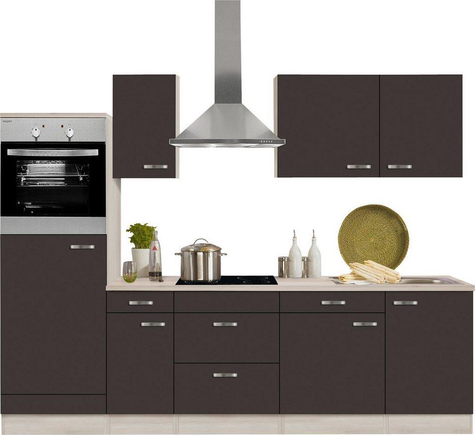 optifit k chenzeile mit e ger ten faro breite 270 cm online kaufen otto. Black Bedroom Furniture Sets. Home Design Ideas