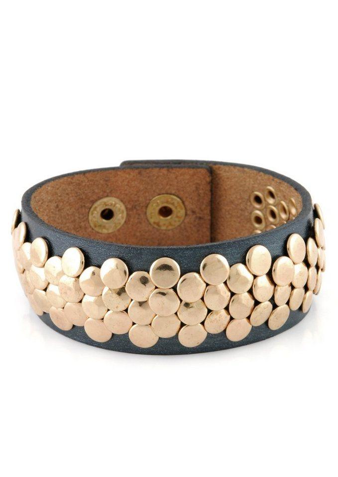 Lizas Armband mit Nieten in roségoldfarben/grau