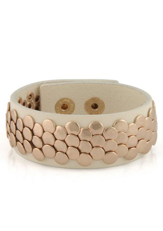 Lizas Armband mit Nieten in roségoldfarben/weiß