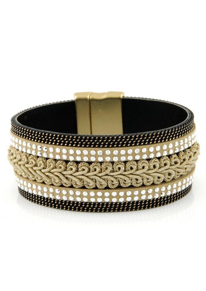 Lizas Armband mit Steinen in goldfarben/schwarz/beige