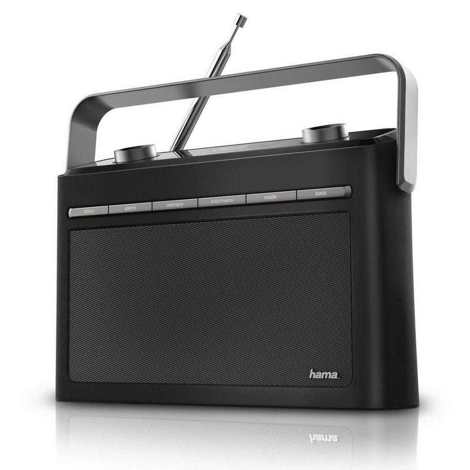Hama Digitalradio DR50 tragbarer Radiowecker DAB+/DAB/FM/UKW »Netzteil oder Batterie Betrieb« in Schwarz