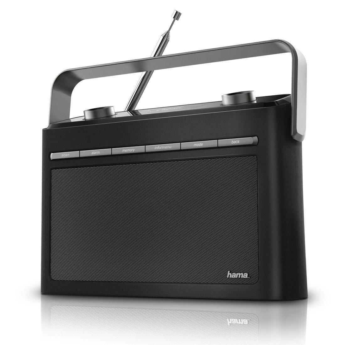 Hama Digitalradio DR50 tragbarer Radiowecker DAB+/DAB/FM/UKW »Netzteil oder Batterie Betrieb«