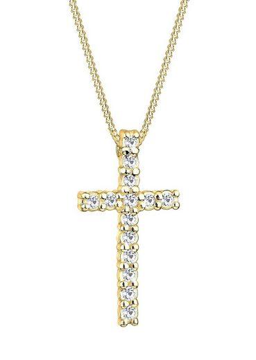 Elli Kreuzkette »0111751411«, mit Kristallen