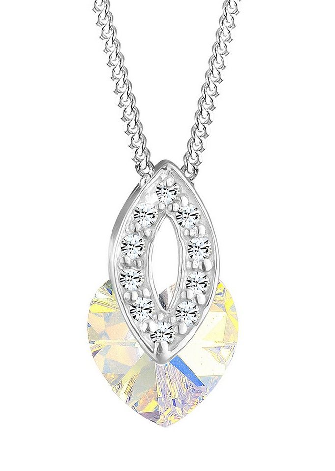 Elli Kette mit Anhänger, mit Swarovski® Kristallen, »Pina, 0106681312« in Silber 925