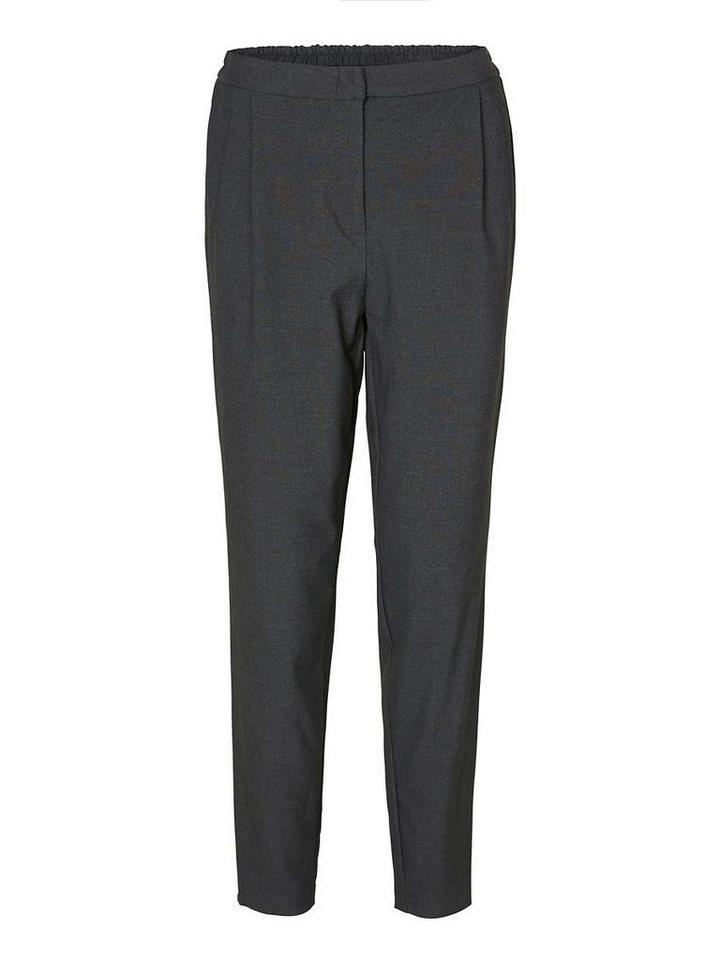 Vero Moda Klassische Normal-Waist- Hose in Dark Grey Melange