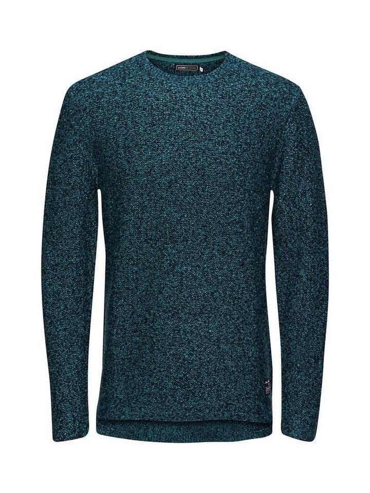 Jack & Jones Softgrüner Pullover in Deep Teal