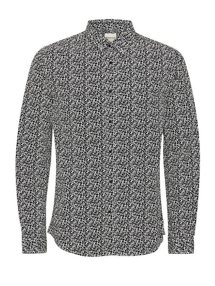 Jack & Jones Gemustertes Popeline- Businesshemd in White