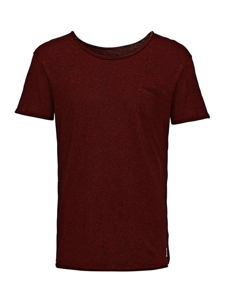 Jack & Jones Ausgewaschenes Regular Fit- T-Shirt in Syrah
