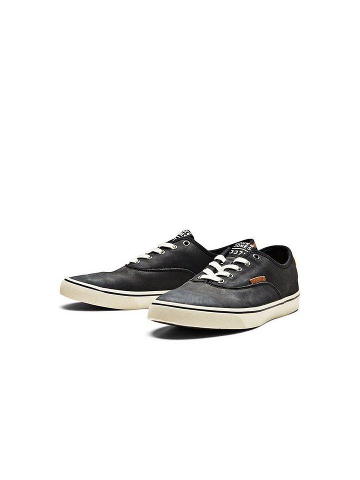 Jack & Jones Leder- Sneakers in Pirate Black